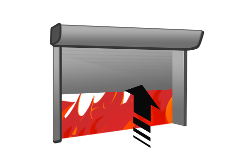 Fire resistant rolling gate