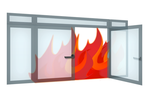 Fire resistant glass doors, portals, glass walls