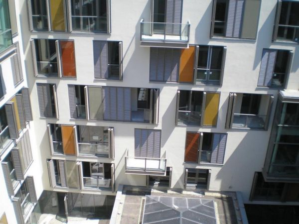Fire-rated glass railings for false balcony, fire-resistant glass parapet references